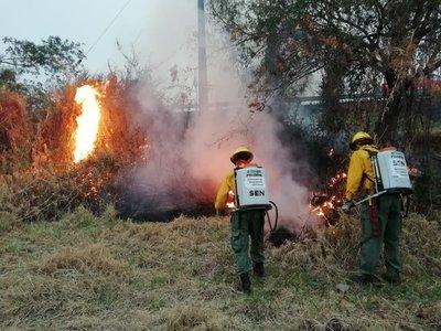 Incendio de grandes proporciones en ruta Luque-San Ber fue controlado