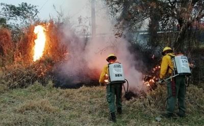 Controlan incendio en ruta Luque-San Bernardino