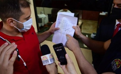 Intendente presentó denuncia por falsificación de pago de patente