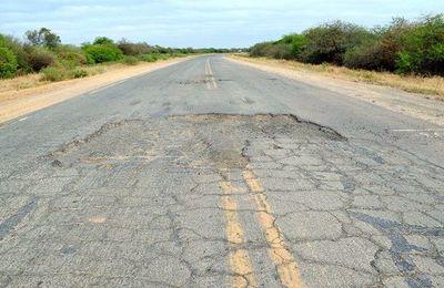 Se inicia trabajos en el lote 7 de la ruta Transchaco, trayecto que hoy está en pésimo estado