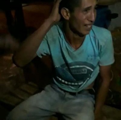 El momento exacto en que Adelio Mendoza llegaba a Tranquerita