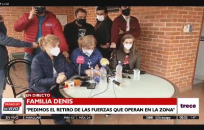 """Beatriz Denis: """"Pedimos el retiro de las fuerzas de la zona"""""""