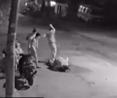 Brutal agresión a joven en Fernando de la Mora