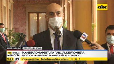 Salud planteó apertura parcial de fronteras con Brasil