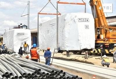 El tren metropolitano se reactiva con la llegada de vagones a Bolivia