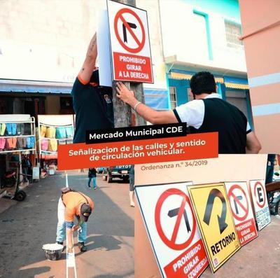 Establecen calles con sentido único en el Mercado de Abasto
