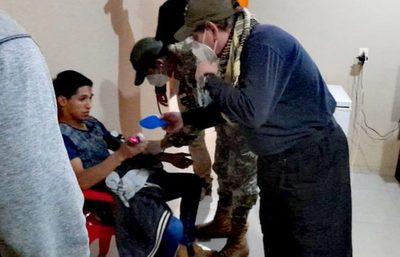 Óscar y Adelio caminaron por tres días hasta un campamento de los secuestradores