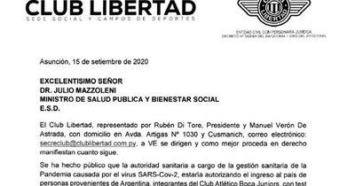 La Nación / Libertad advierte denuncia al Ministerio de Salud