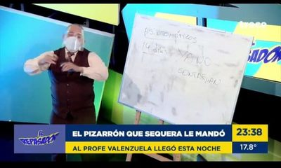 "Profe Valenzuela recibió ""pizarrón"" de Guille Sequera (video)"