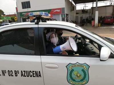 Covid-19; Concienciación por las calles de Coronel Oviedo – Prensa 5