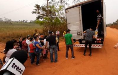 Pobladores de San Pedro recibieron víveres por parte de la familia Denis