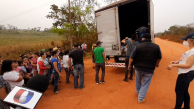 Familia Denis entregó víveres a comunidades de San Pedro