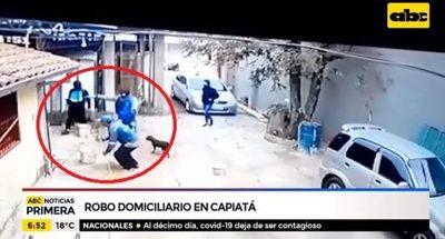 Se llevan millones de asalto domiciliario en Capiatá