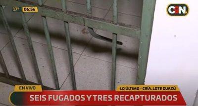 Detenidos se fugan de comisaría de San Lorenzo