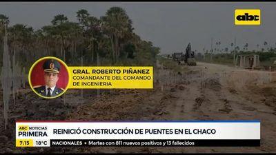 Sigue construcción de puentes en el Chaco