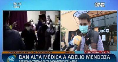 Adelio Mendoza recibe alta y retorna a su comunidad