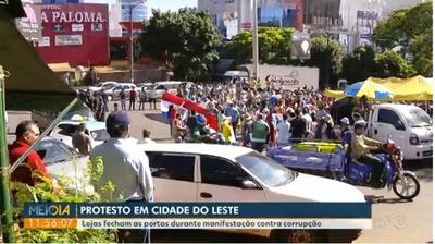 Manifestación contra la corrupción cierra comercio en CDE en vísperas del BLACK FRIDAY