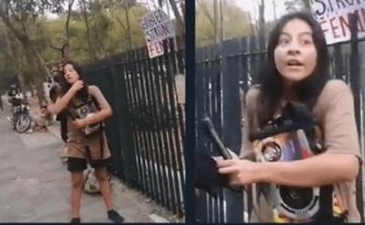 Prisión preventiva para imputada por quema de bandera y pintarrajear Panteón de los Héroes