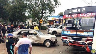 Dos heridos en accidente en la ruta Luque –San Lorenzo •