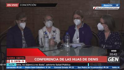 Familia Denis cumplió con entrega de víveres y pide liberación por cuestiones humanitarias