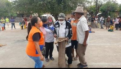 Indígenas piden libertad de Denis con un acto ancestral
