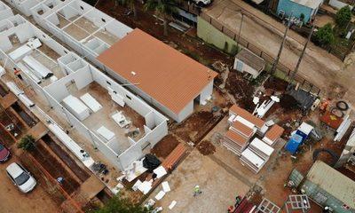Avanza en tiempo récord construcción de los nuevos pabellones de contingencia