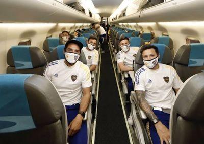 Desde anoche Boca Juniors está en Paraguay