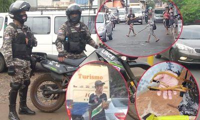 Agentes del Lince sacan de los semáforos a violentos y agresivos limpiavidrios – Diario TNPRESS