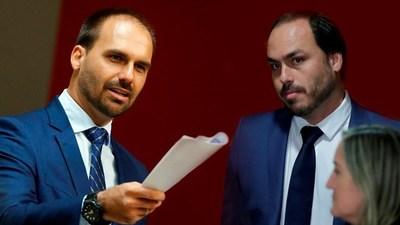 """Llaman a declarar a hijos de Bolsonaro en investigación sobre la organización de manifestaciones """"antidemocráticas"""""""