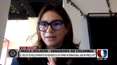 "Grupos guerrilleros ""usan a niños como carne de cañón"", según legisladora colombiana"