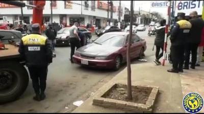 PMT de Luque multó y denunció a iracundo conductor •