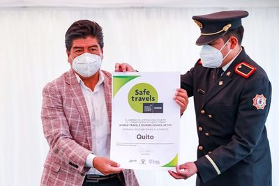 La capital de Ecuador recibe el sello internacional de «Safe travel»