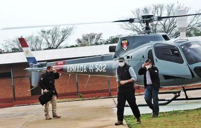Presidente Abdo Benítez llegó a la base de operaciones de la Fuerza de Tarea Conjunta