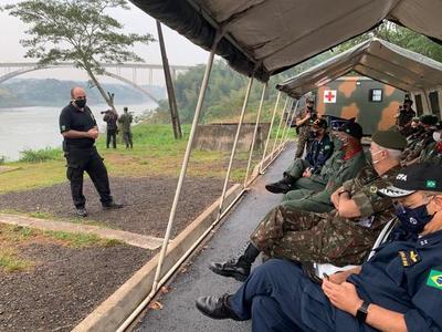 Policía Federal del Brasil realiza constantes intervenciones en el río Paraná