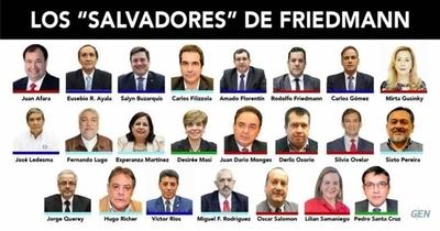 HOY / Los salvadores que votaron a favor de Friedmann