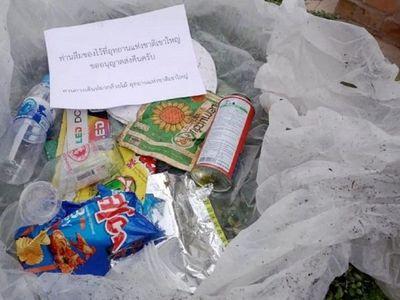 Envían a casa de excursionistas la basura arrojada en parque natural