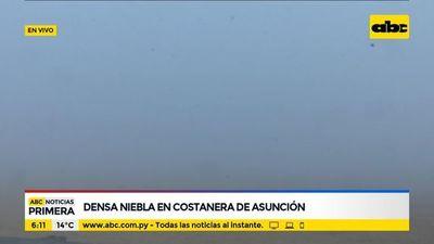 Densa niebla cubre todo el microcentro de Asunción