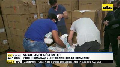 Imedic: Ante dudas sobre procedencia real de medicamentos, se canceló registro sanitario, afirman