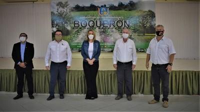 Ministra de Industria y Comercio se reunió con autoridades de Boquerón