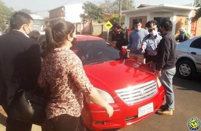 Aparatoso y sospechoso secuestro de vehículo en Luque •