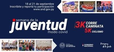 """Semana de la Juventud: Preparan jornada deportiva """"modo covid"""""""