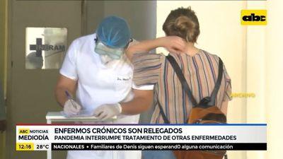 Enfermos crónicos son relegados por la pandemia