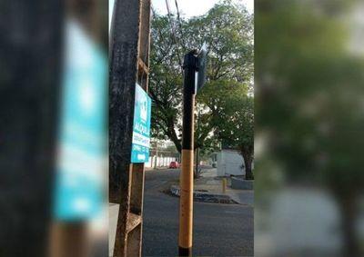 Hurtan dos semáforos de Asunción en una semana