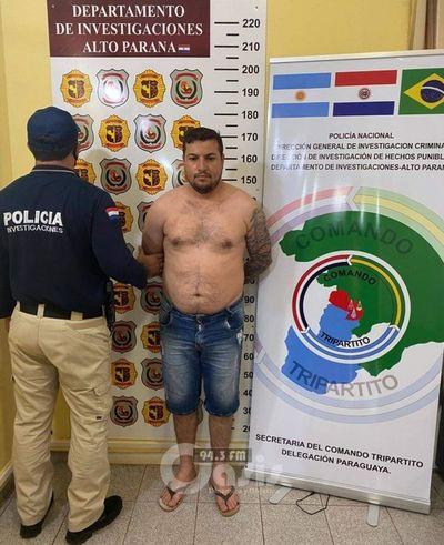 Peligroso brasileño buscado por la justicia de su país fue detenido