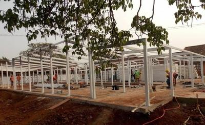 HOY / Rápido avance en construcción del futuro hospital de contingencia en PJC