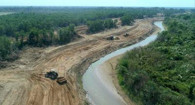 Pilcomayo: Avanzan trabajos de mantenimiento y ampliación del canal paraguayo