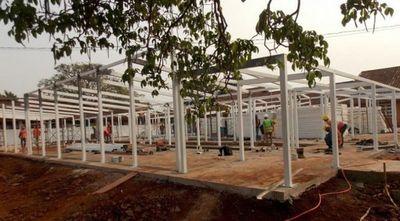 Las obras en el futuro hospital de contingencia de Pedro Juan avanzan rápidamente
