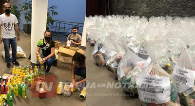 ESTUDIANTES DE LA UNAE ENTREGARÁN MÁS DE 300 KITS DE ALIMENTOS A FAMILIAS VULNERABLES.