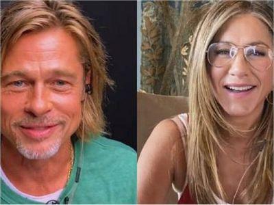 """Jennifer Aniston y Brad Pitt """"se reencuentran"""" y enamoran a las redes"""