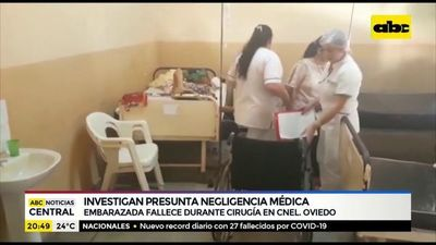 Embarazada fallece durante cirugía en Coronel Oviedo